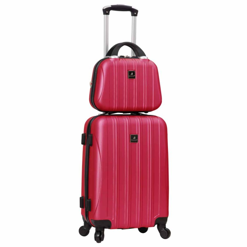 Valise cabine 4 roues + vanity Madisson - Pink
