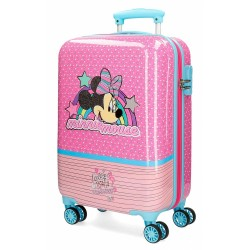 Valise cabine ABS 55CM 4 roues MINNIE PINK VIBES - DISNEY